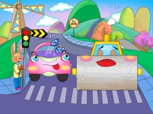 kidsonline-truyện hay mầm non-truyện chủ đề giao thông-xe lu và xe ca