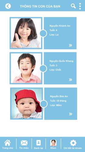 Ứng dụng quản lý mầm non cung cấp thông tin của con bạn