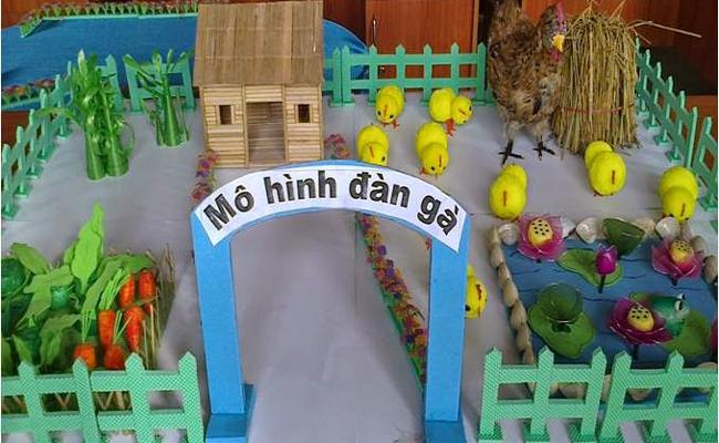 Giáo cụ mô hình gà cho đề tài nhận biết tập nói cho trẻ