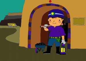 kidsonline-thơ cho trẻ mầm non-thơ chủ đề nghề nghiệp-thợ mỏ