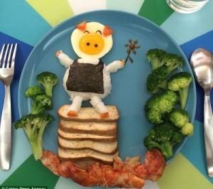 kidsonline-Các cách trang trí món ăn cho bé cực đơn giản và đẹp mắt9