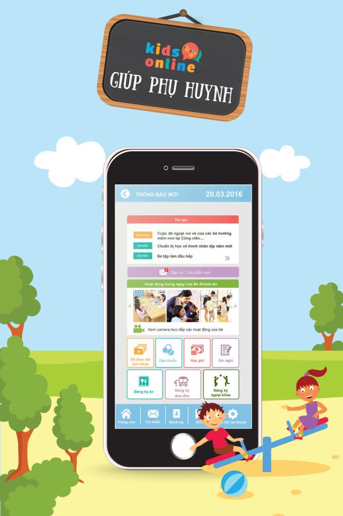 Góc KidsOnline-Cẩm nang làm cha mẹ tuyệt vời tại sổ liên lạc điện tử kiểu mới KidsOnline1
