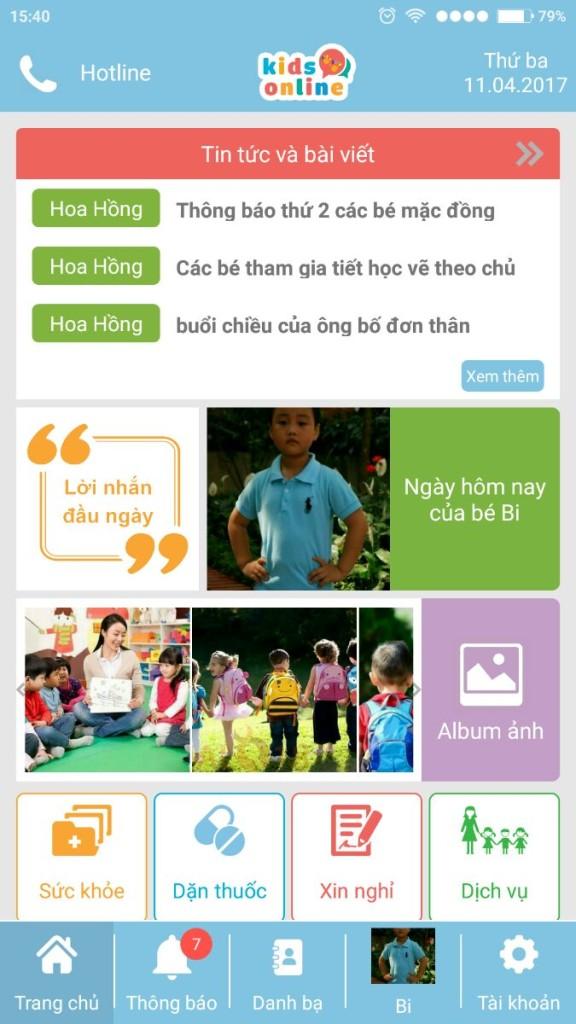 Phần mềm quản lý học sinh KidsOnline-trẻ luôn an toàn trong vòng tay bố mẹ