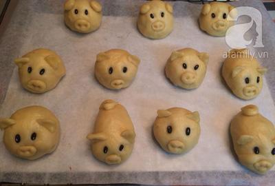 Cách làm bánh trung thu heo con nhân sữa dừa socola