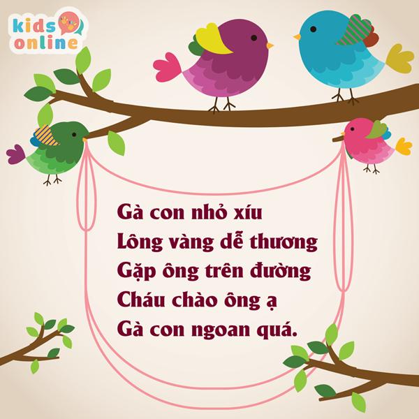 Bài thơ hay cho bé 5