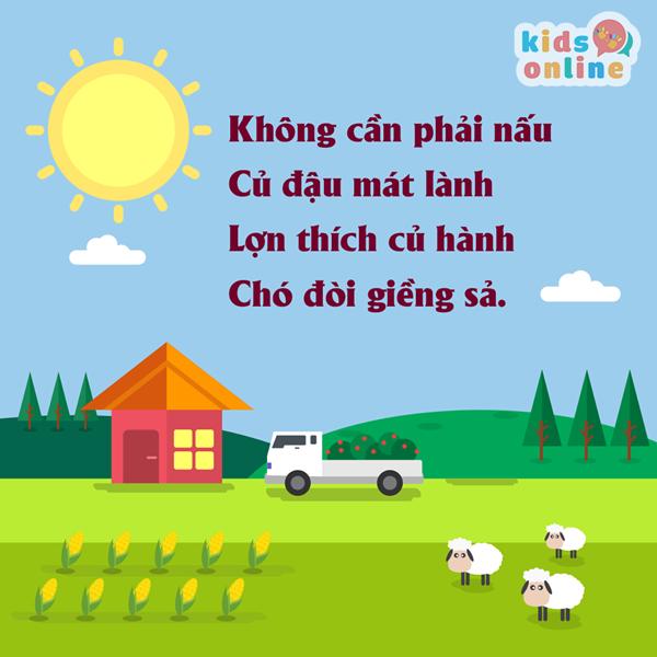 Bài thơ hay cho bé 2